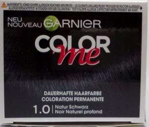 Garnier Color me Natur Schwarz 1.0 farba do włosów czerń.