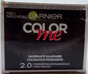 Garnier Color me Natürliches Schwarzbraun Dauerhafte Haarfarbe 2.0 farba naturalny czarny brąz