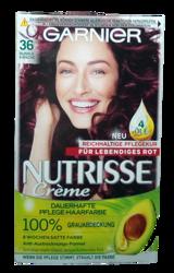 Garnier Nutrisse Creme Coloration Dunkle Kirsche 36 farba do włosów ciemna wiśnia nr 36