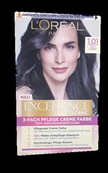 Loreal Paris Excellence Creme Coloration Tiefes Schwarz farba do włosów nr 1.01 głęboka czerń