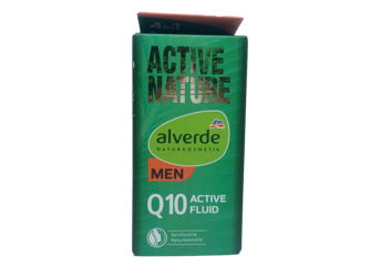 alverde Naturkosmetik Active Nature Q10 Active-Fluid aktywny fluid do twarzy konezym  Q10 dla mężczyzn