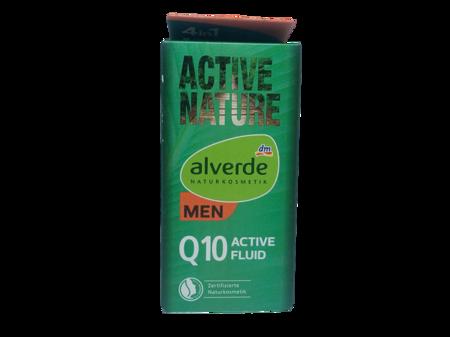 Alverde Men Naturkosmetik Active Nature Q10 Active-Fluid fluid do twarzy dla mężczyzn