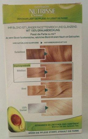 Garnier Nutrisse Creme Coloration Helles Naturblond 9.03 F farba do włosów jasny naturalny blond nr 9.03