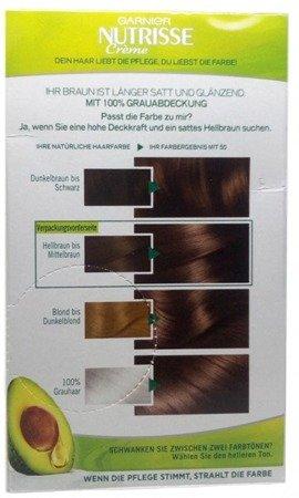 Garnier Nutrisse Creme Coloration Mocca Hellbraun 50 Färbung für Haare für permanente Haarfarbe farba jasny kawowy brąz nr 50