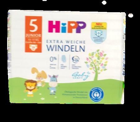 Hipp Babysanft Windeln Gr. 5 29 szt. 11-17 kg jednorazowe pieluszki dla dzieci