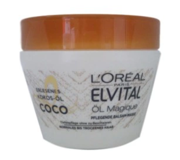 Loreal Paris Elvital Öl Magique Pflegende Balsam-Maske mask do włosów kokos