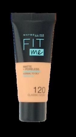 Maybelline Jade New York Fit me! Matte+Poreless mattierendes Make-up 120 Classic Ivory podkład matujący nr 120 klasyczna kość słoniowa