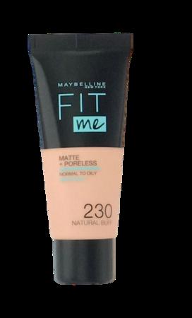 Maybelline Jade New York Fit me! Matte+Poreless mattierendes Make-up 230 natural buff podkład matujący