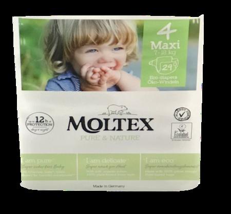 Moltex Windeln nature no.1 Größe 4 Maxi, 7-18kg, 29 sst.. ekologiczne pieluchy jendorazowe dla dzieci