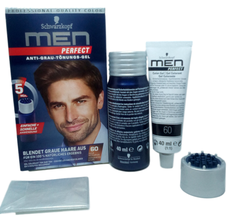 Schwarzkopf Men Perfect  Anti Grau Tonungs gel odsiwiacz  w żelu średni brąz nr 60