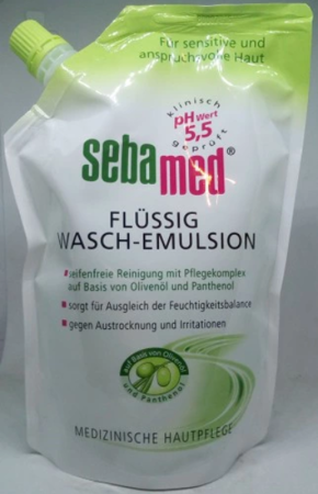 Sebamed Waschemulsion flüssig emulsja do mycia ciała oliwka 400 ml