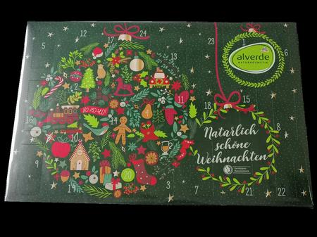 alverde Adventskalender 2021 - natürlich schöne Weihnachten kalendarz adwentowy z ekologicnzymi kosmetykami 2021, prezent
